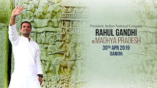 LIVE: Congress President Rahul Gandhi addresses public meeting in Damoh, Madhya Pradesh