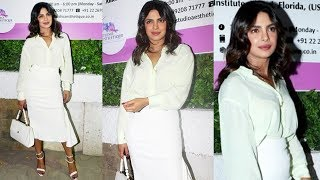 Priyanka Chopra Looks As Usual Dazzling At Mother Madhu Chopra Clinic Inauguration