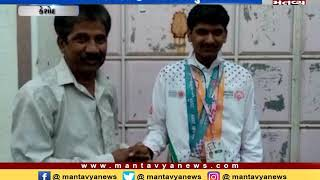 Keshod:People honored a disabled man of Fagli village who won gold in Special Olympics World Games