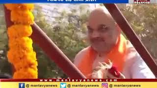 BJP chief Amit Shah begins Roadshow ahead of filing nomination in Gandhinagar