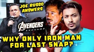 Avengers Endgame   Why Did Iron Man Have To SNAP THANOS Away & Not Someone Else? Russo's Explains