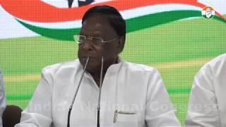 LIVE: AICC Press briefing by V Narayanasami and Pawan khera at Congress HQ