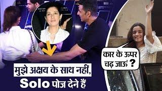 Twinkle Khanna refuse to pose with Akshay Kumar