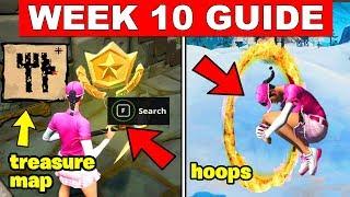 Fortnite ALL Season 8 Week 10 Challenges Guide! Flaming Hoops, Treasure Map Signpost Junk Junction