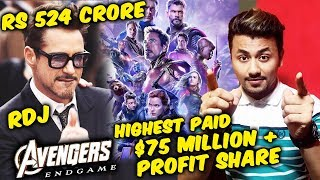 Avengers Endgame | Robert Downey Jr SALARY For The Movie, Highest Paid Actor Ever | IRON MAN