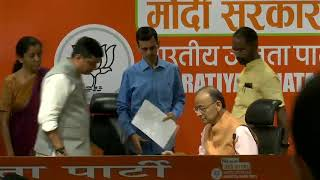 Joint Press Conference by Shri Arun Jaitley & Smt Nirmala Sitharaman at BJP Head Office, New Delhi