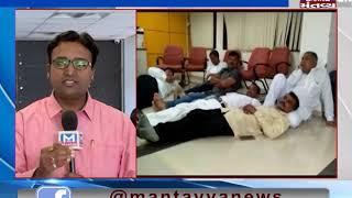 Gandhinagar:Congress' 3 MLAs sit on strike over demand of Crop insurance money