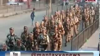Aravalli: Police & BSF battalion take out flag march in Modasa   Mantavya News