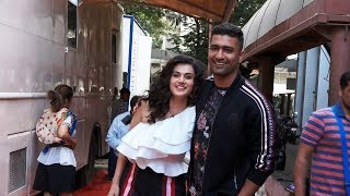 Vicky Kaushal And Tapsee Pannu Spotted At Neha Dhupia Vogue Show