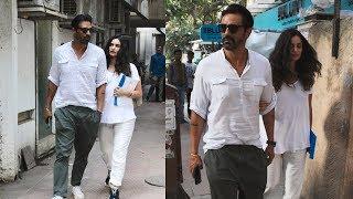 Arjun Rampal With His Pregnant Girlfriend Gabriella Spotted At B Blunt Khar