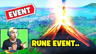 ????NEW FORTNITE VOLCANO Event Happening Now! LOOT LAKE EVENT Fortnite Battle Royale! (RUNE MISSING)