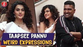Taapsee Pannus WIERD Facial Expressions While Posing With Vicky Kaushal