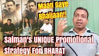 Salman Khan Unique Promotional Strategy For Bharat?