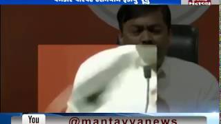 Delhi: Man throws shoe at BJP spokesperson GVL Narasimha Rao during press conference - Mantavya News