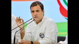 Congress President Rahul Gandhi addresses media at Congress HQ