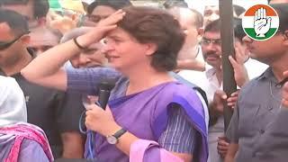 Smt. Priyanka Gandhi Vadra addresses a public meeting in Amethi, Uttar Pradesh