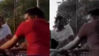 Watch: CM Arvind Kejriwal slapped by man in a roadshow in Delhi || #INDIAVOICE
