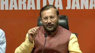 Press Conference by Shri Prakash Javadekar at BJP Head office, New Delhi : 05.05.2019