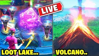 ????UNVAULTING LTM LOOT LAKE Rune Event! VOLCANO EVENT Fortnite Battle Royale! Tilted Tower Destroyed