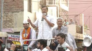 AAP National Convenor Arvind Kejriwal Road Show from New Delhi Lok Sabha