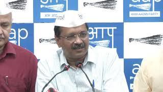 AAP Convenor and Delhi CM Arvind Kejriwal Briefs Media on Traders