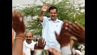 Watch: 'Modi' chants at Arvind Kejriwal's roadshow
