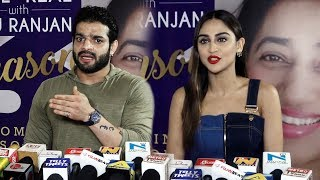 Karan Patel And Krystle D'Souza At Reel or Real With Anu Ranjan Season 3 Launch