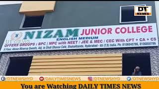Nizam Junior College | Opens Near Shah Ghouse | CEC MPC BiPC | Sperate Classes For Girls - DT News