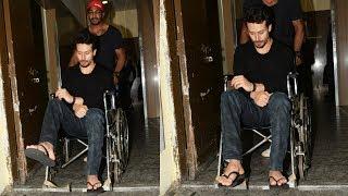 Tiger Shroff BROKES His LEG, Attends SOTY 2 Screening On Wheel Chair