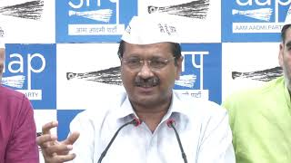AAP National Convenor Arvind Kejriwal Briefed Media on Unauthorised Colonies