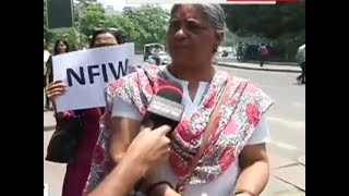 Women protest at Connaught place in Delhi against clean chit to CJI in sexual harassment case