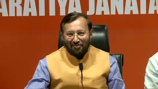 Press Conference by Shri Prakash Javadekar at BJP Head Office, New Delhi : 08.05.2019