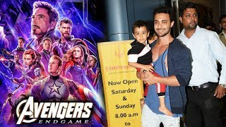 Salman Khan Brother In Law Aayush Sharma With Son Ahil Watches Avengers Endgame