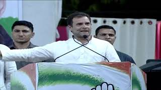 Congress President Rahul Gandhi addresses public meeting in Gwalior, Madhya Pradesh