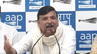 AAP Rajya Sabha Member Sanjay Singh Briefs Media on Jet Airways