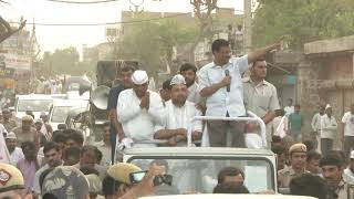 AAP National Convenor Arvind Kejriwal Road Show from North West Delhi Lok Sabha