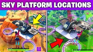 Visit all Sky Platforms Location - Week 1 Challenge Fortnite Season 9 (Fortnite Battle Royale)