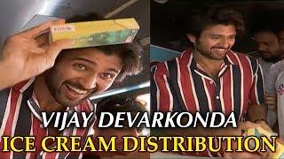 Vijay Devarakonda Crazy Birthday Celebrations   Vijay Devarakonda Distributing Ice Creams