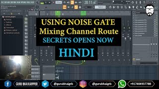 How Mixing Channel Route (Routing) | Using Noise Gate in HINDI | GURU BHAI