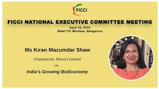 The government must focus on Bio-economy: Ms Kiran Mazumdar Shaw