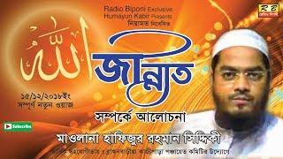 জান্নাত সম্পর্কে আলোচনা। হাফিজুর রহমান সিদ্দিকী। Jannat Somporke Alocona By Hafijur Rahman Siddiqi