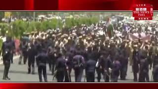 अलवर गैंगरेप केस में चंद्रशेखर आजाद के नेतृत्व में प्रदर्शन, फांसी की मांग / THE NEWS INDIA