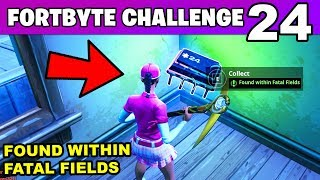 FORTBYTE 24 - Found Within Fatal Fields LOCATION Challenges (Fortnite Battle Royale)