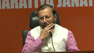 Press Conference by Shri Prakash Javadekar at BJP Head Office, New Delhi : 12.05.2019