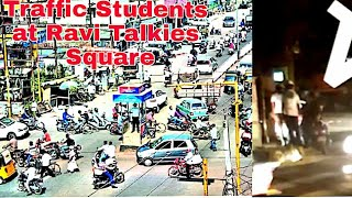 Students Traffic At Ravi Talkies Square. What they are doing on traffic post ? Watch this....