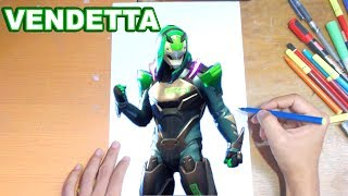 FORTNITE Drawing VENDETTA - How to Draw VENDETTA | Step-by-Step Tutorial - Fortnite Season 9
