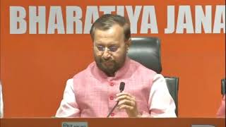 Press Conference by Shri Prakash Javadekar at BJP Head Office, New Delhi : 13.05.2019