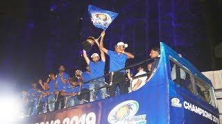 Mumbai Indians Team Celebration After Winning IPL 2019