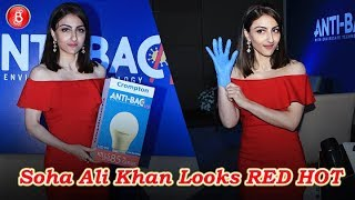Soha Ali Khan Looks RED HOT As She Attends An Event