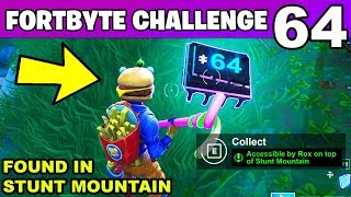 FORTBYTE #64 - Accessible by Rox on top of Stunt Mountain LOCATION Fortnite Fortbyte 64 Challenge